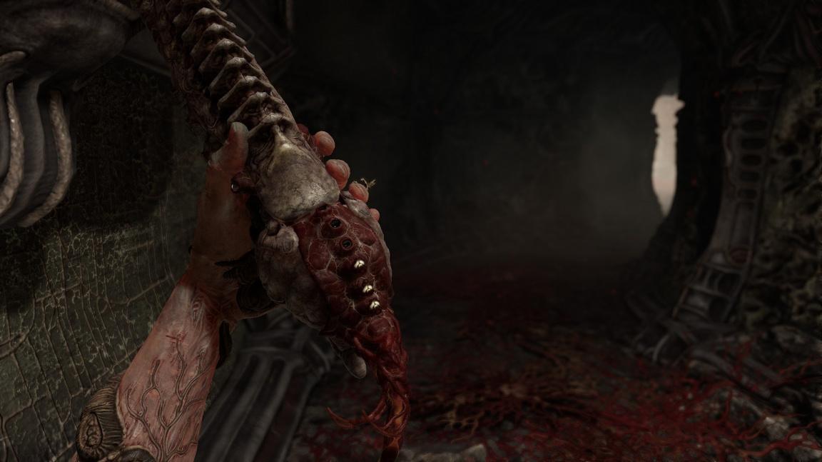 V hororové střílečce Scorn máte organické zbraně metající zuby a další nechutnosti