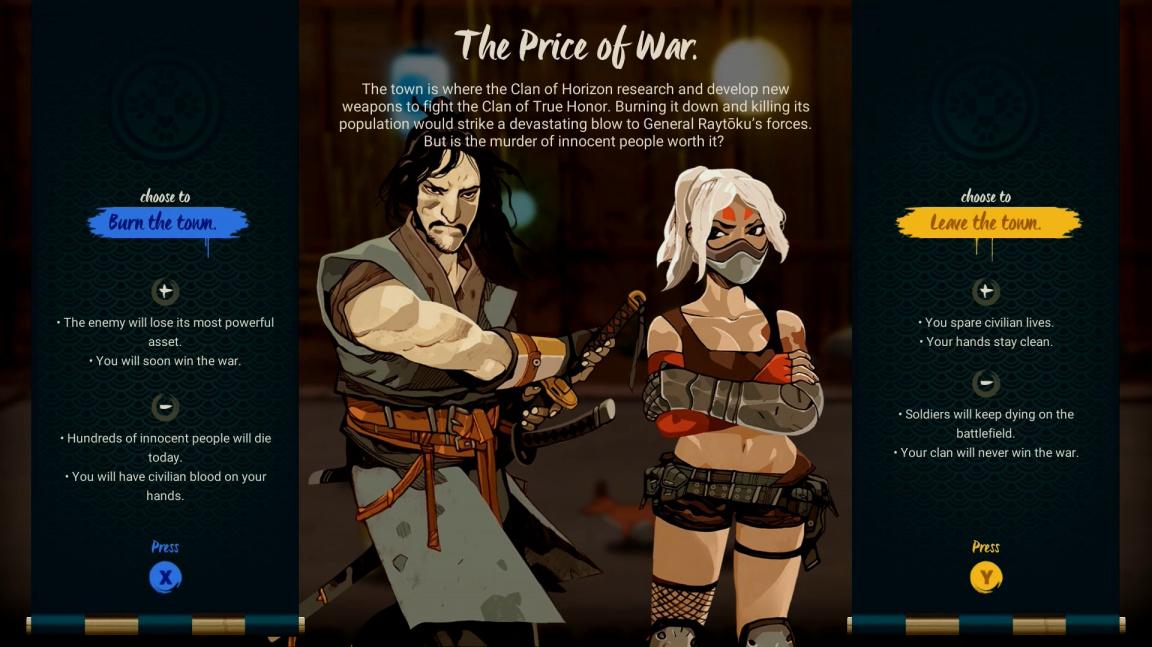 Porvěte se s kamarádem o dějová rozhodnutí v mlátičce Samurai Riot