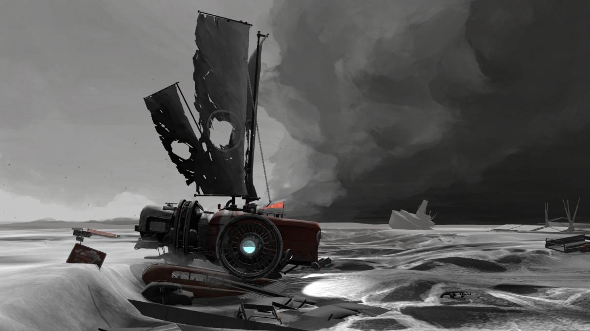 V krásné FAR: Lone Sails musíte s lodičkou překonat moře – ale vyschlé