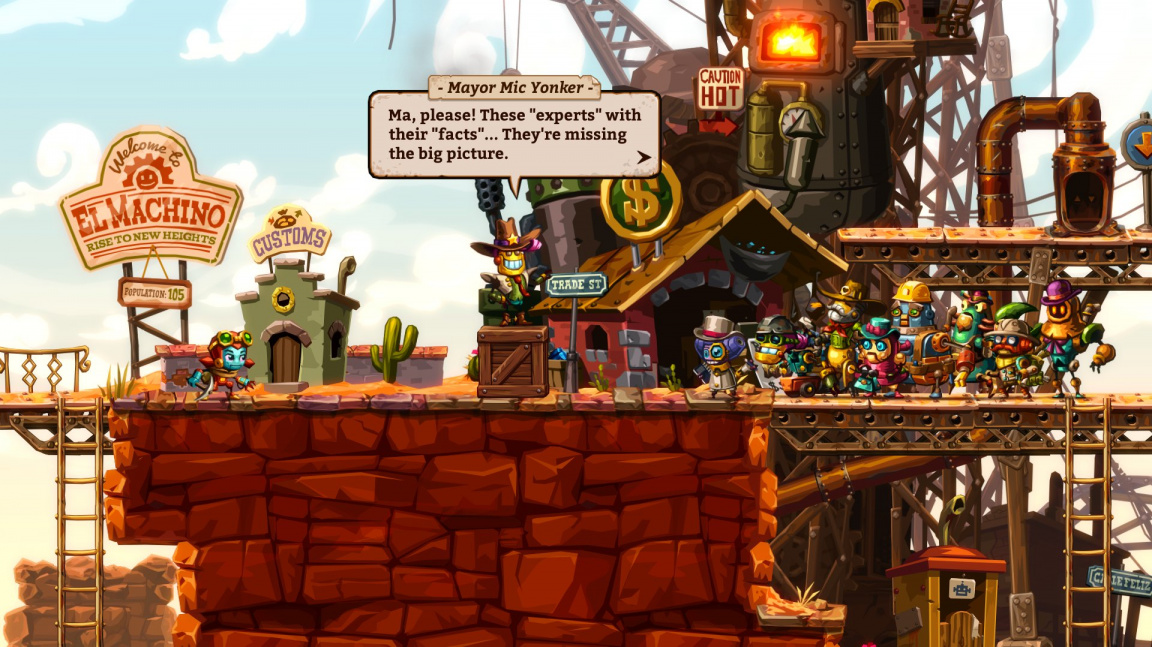 Na Switch, PC a PS4 vychází dolovací hopsačka SteamWorld Dig 2