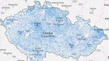 CETIN spustil mapu, která ukazuje pokrytí ČR internetem