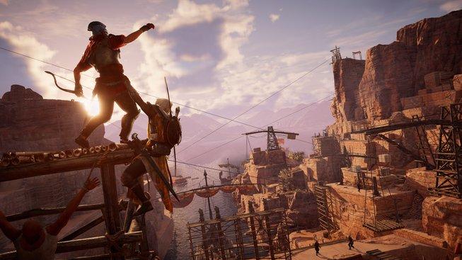Bayekovi dávají v traileru na Assassin's Creed Origins zabrat bojoví sloni, gladiátoři i Anubis