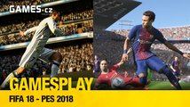 GamesPlay: FIFA 18 a PES 2018