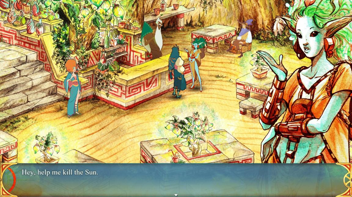RPG Selling Sunlight zaujme krásnou kreslenou grafikou, originálním světem i hrdinou bez tváře