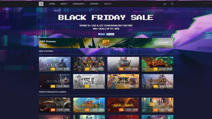 Slevové akce Black Friday právě lomcují celým světem a GOG samozřejmě není výjimkou