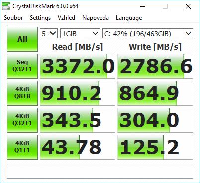 CrystalDiskMark benchmark Omen X