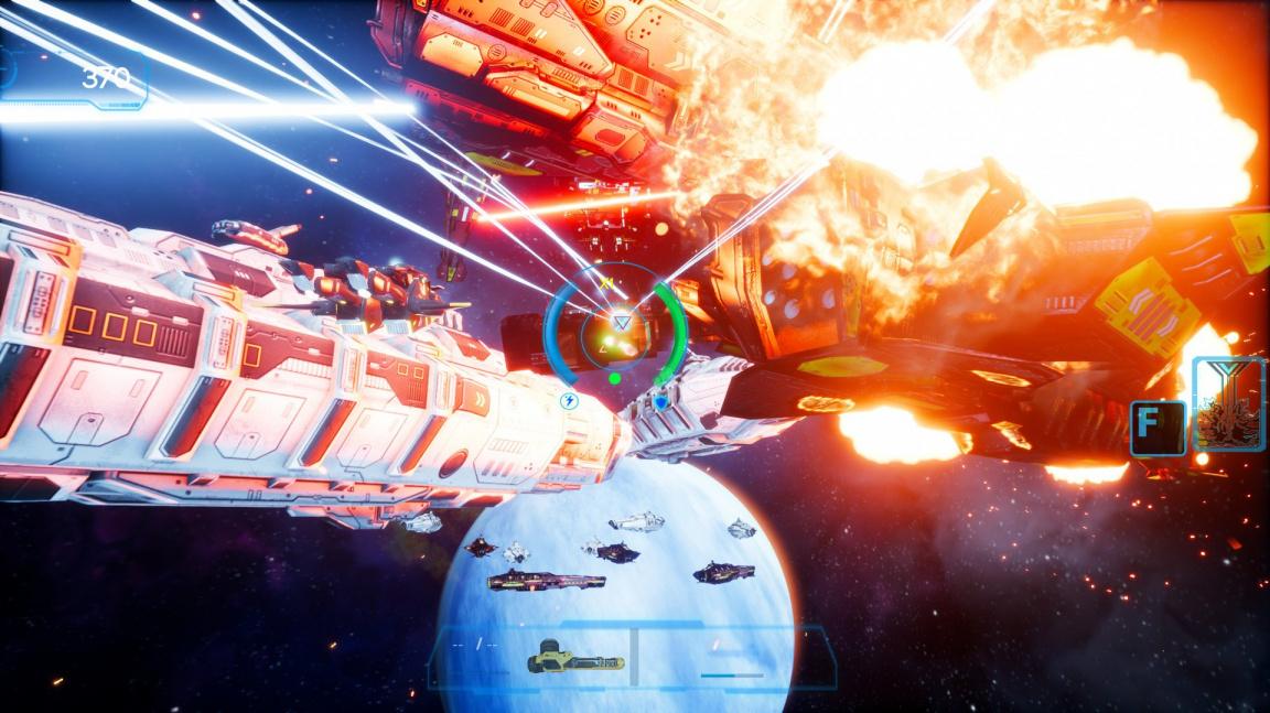 V on-rail střílečce Omnibion War válčíte za mír v těle transformera