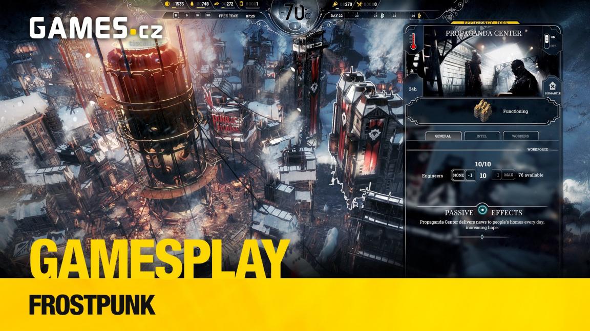 GamesPlay - hrajeme mrazivou příběhovou strategii Frostpunk