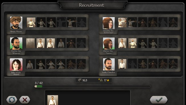 M&B II: Bannerlord rekrutové