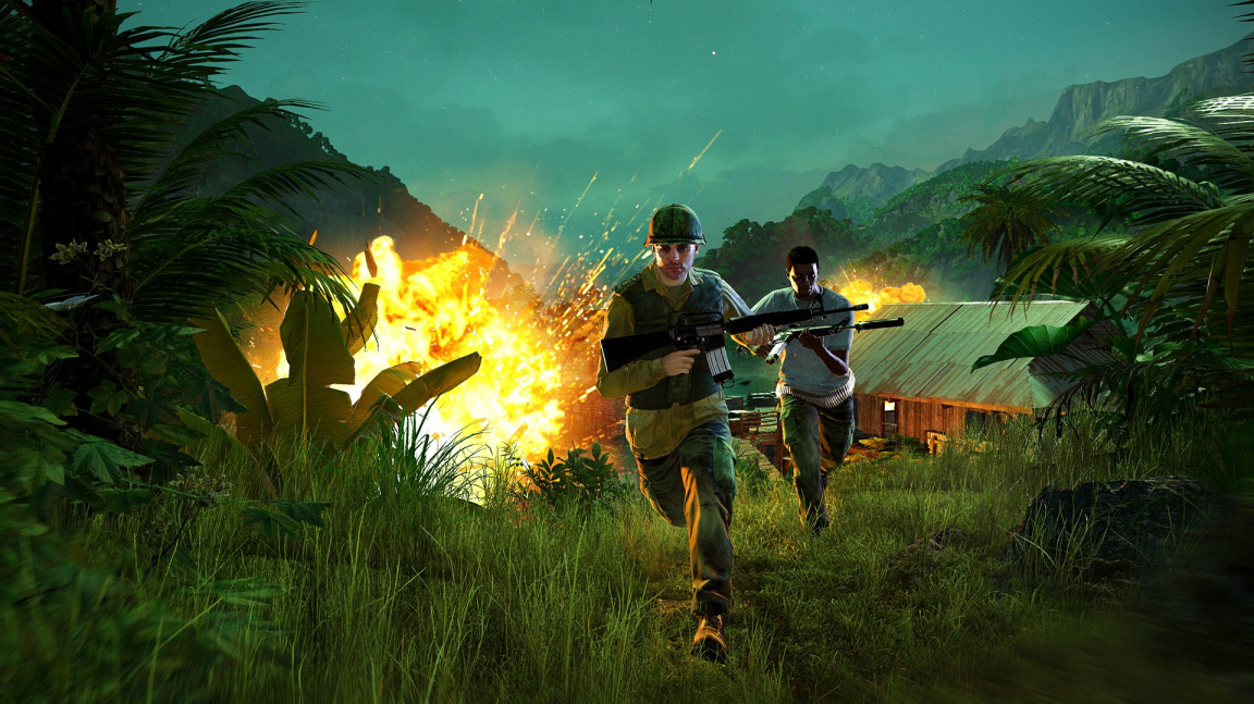 V DLC Hours of Darkness pro Far Cry 5 zčervená zelený Vietnam