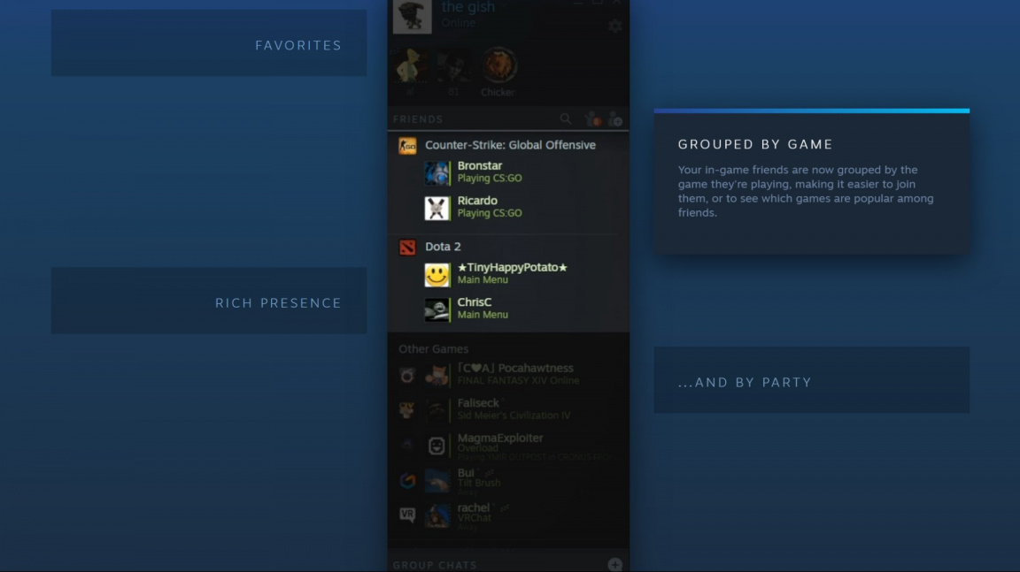 Steam chystá vylepšený chat, ale končí s podporou Win Vista a XP