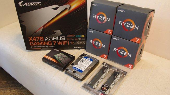 Testovací kit AMD Ryzen druhé generace