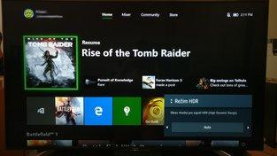 Xbox One X HDR menu
