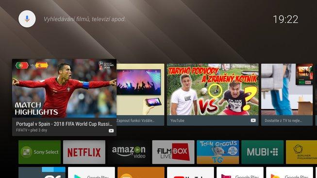 Android TV na Sony Bravia KD-55XF8505
