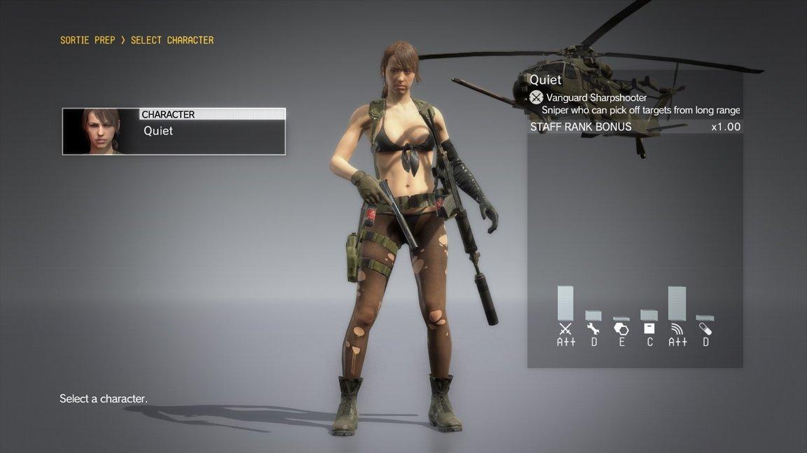 Nečekaný update do Metal Gear Solid V vám umožní hrát za spoře oděnou Quiet