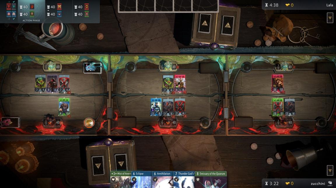 Objevují se první videa z hraní karetního Artifactu od Valve