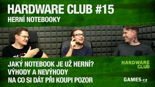 Hardware Club #15: Herní notebooky