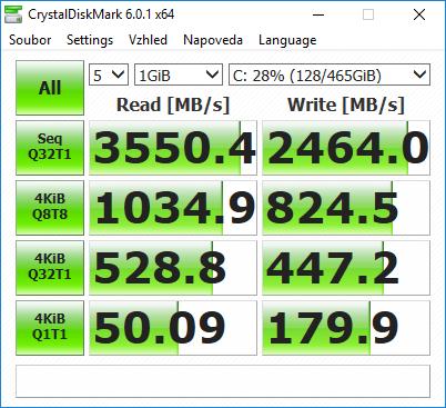 Samsung 970 EVO M.2 NVMe SSD Crystal Disk Mark