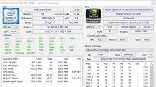 Gigabyte Geforce RTX 2080 Gaming OC HWInfo