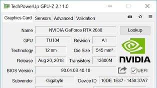 GPU-Z - OC RTX 2080 Gigabyte Gaming