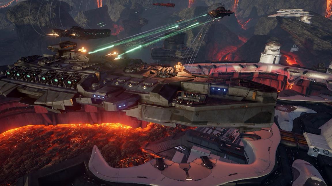 Bitvy gigantických vesmírných korábů v multiplayerové akci Dreadnought jsou tu
