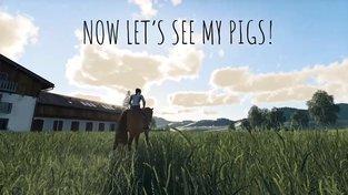 Slečna na koni vám předvede, jak to chodí na její farmě ve Farming Simulator 19