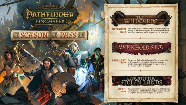 Pathfinder Kingmaker Season Pass roadmap