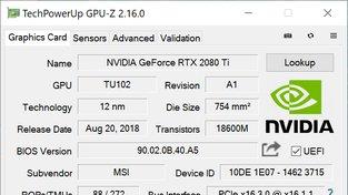 MSI GeForce RTX 2080 Ti Gaming X Trio GPU-Z