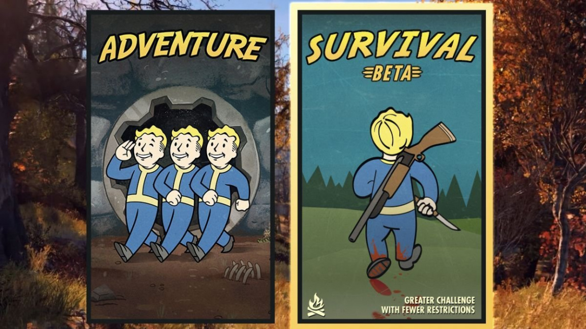 Fallout 76 chystá volnější survival mód