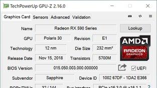 Sapphire Radeon RX 590 Nitro+ Special Edition OC