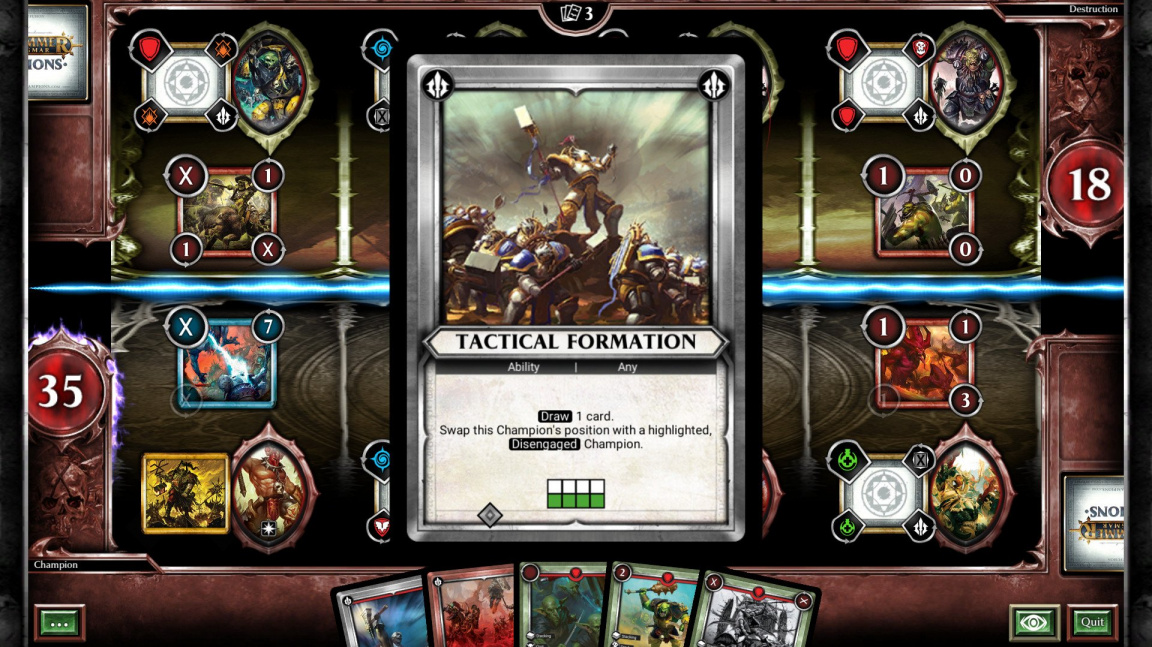 Karetka Warhammer Age of Sigmar: Champions se chystá na PC a Switch