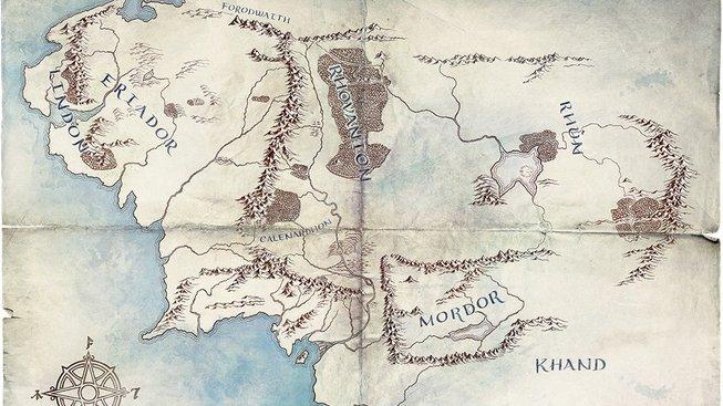 Mapa seriál Pán prstenů