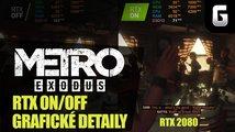 Metro Exodus: RTX ON/OFF a srovnání grafických detailů