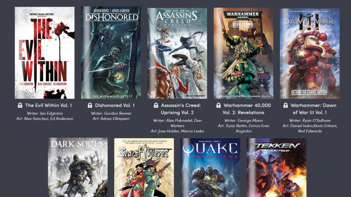 S novým komiksovým bundlem se začtete do příběhů her Bloodborne, Dark Souls nebo Wolfenstein