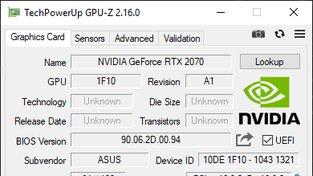 Nvidia GeForce RTX 2070 mobile