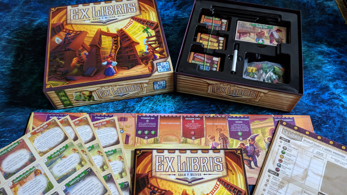 Deskovka Ex Libris: Konečně pořádná hra pro knihomoly