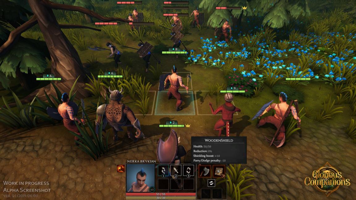 Early access tahového RPG Glorious Companions dostává multiplayer