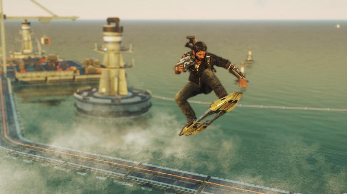 Rico se v novém dodatku k Just Cause 4 prohání na hoverboardu