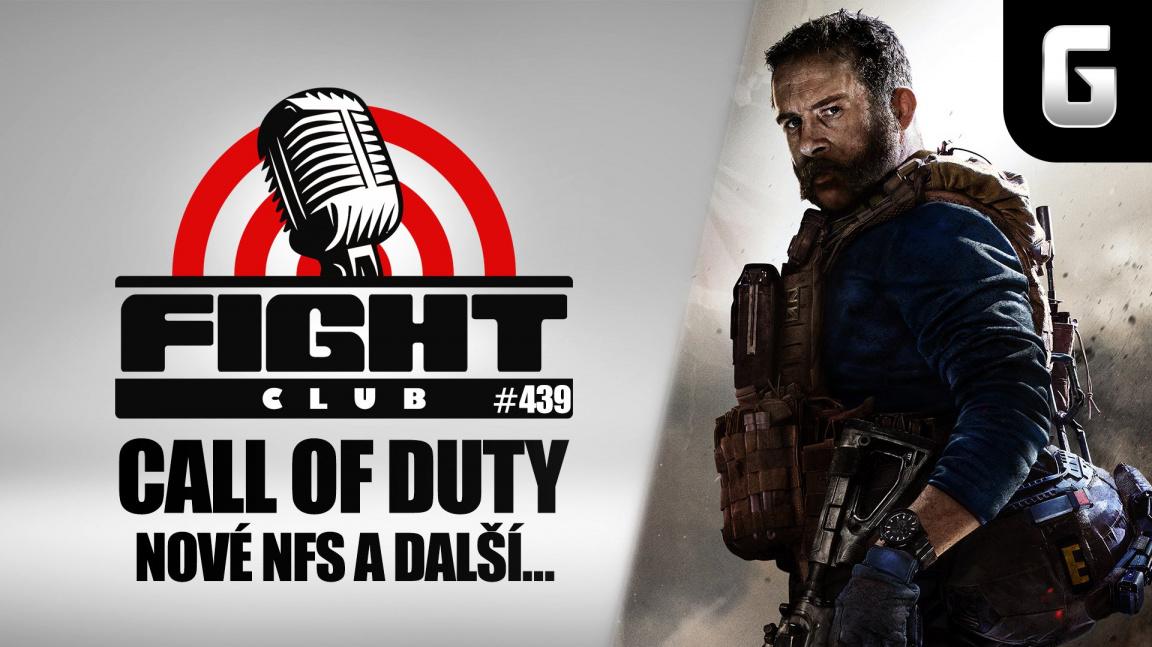 Sledujte Fight Club #439 o novém Need of Speed, Call of Duty a chystaných peckách