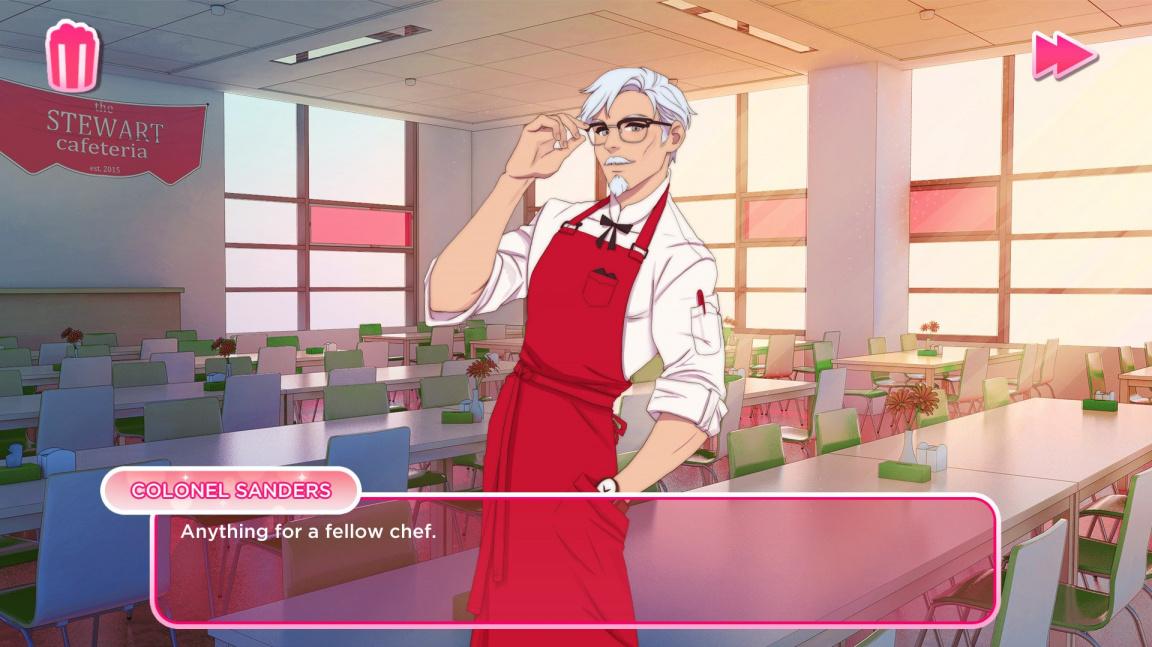 Chcete svést kuřecího plukovníka? Zkuste simulátor randění I Love You, Colonel Sanders!
