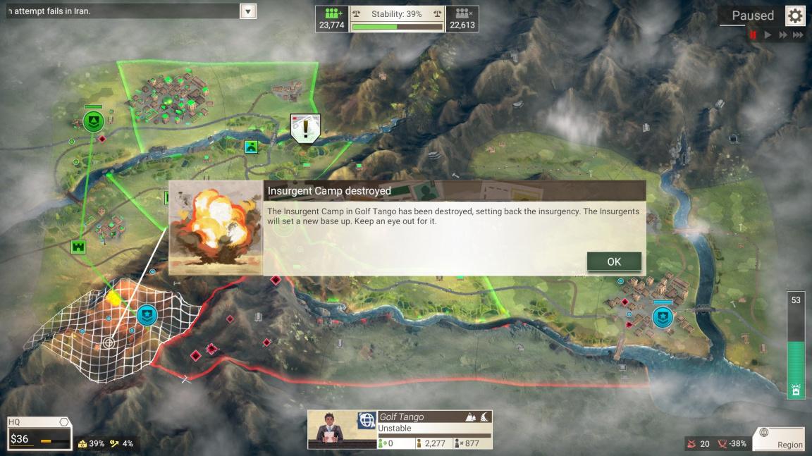 V Rebel Inc: Escalation od tvůrců Plague Inc. pomáháte válkou zpustošenému regionu