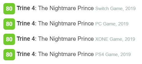 Trine 4 Metacritic