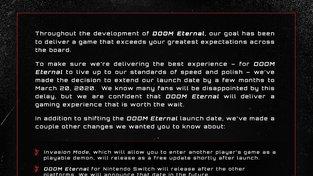 Doom Eternal odklad