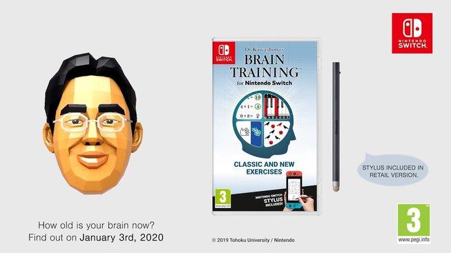 Dr Kawashima's Brain Training for Nintendo Switch Promo Image
