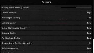 Nastavení LOW (Red Dead Redemption 2)