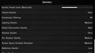 Nastavení MEDIUM-HIGH (Red Dead Redemption 2)