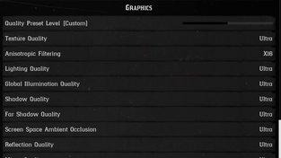 Nastavení ULTRA (Red Dead Redemption 2)