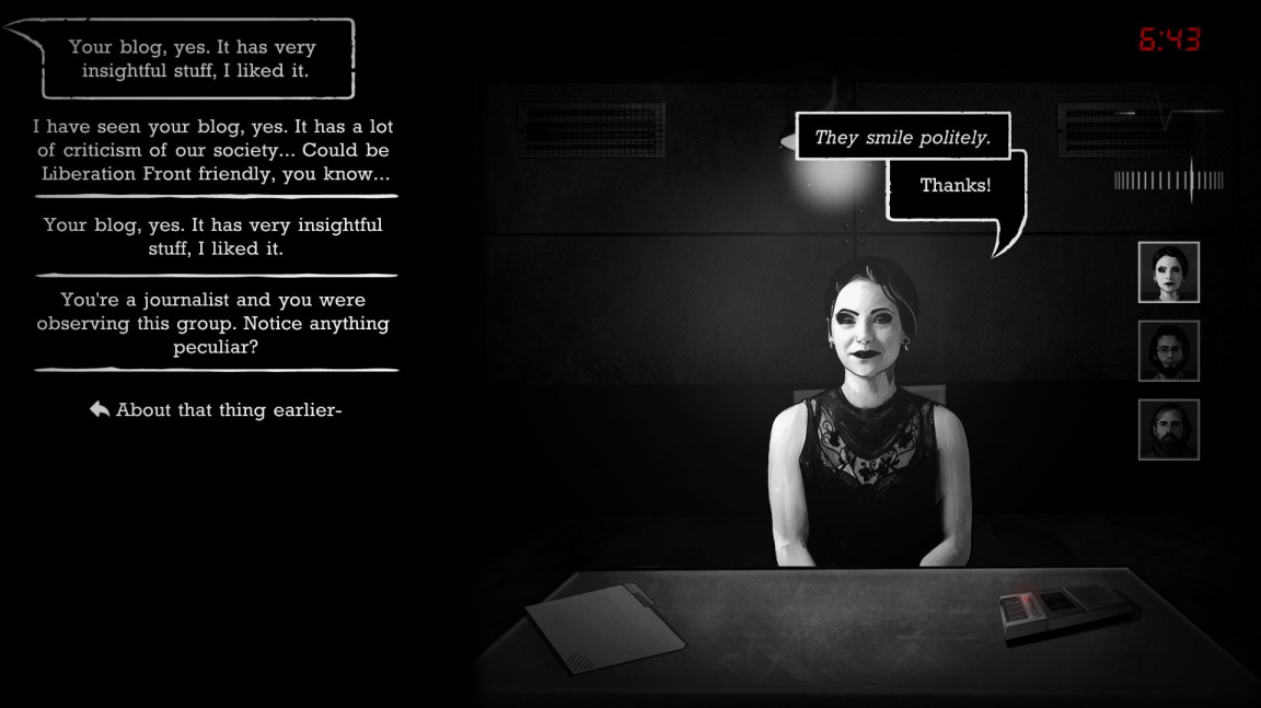 V noirové detektivce Interrogation: You will be deceived bojujete s terorismem a radikalizací