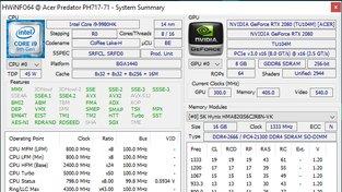 HWINFO Acer Predator Helios 700