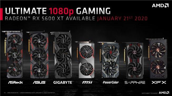 AMD Radeon RX-5600 XT lineup